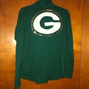 Victorias secret Green Bay Packers Sequins top medium